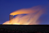 USA, Arizona, Page, Navajo Generating Station, night shot of a coal-fired electrical powerplant located on the Navajo Indian Reservation
