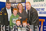 MILLS: Pat Meehan of Sawmills stand back left helping the Burke Family from tralee in chooseing to bye some of their material at the Kerry Home and Garden Show on The Dan Spring Road, Tralee on Saturday. Front l-r: Dylan,Adam and Michael Burke (Tralee),Back l-r: Pat Meehan,Niamh and Maurice Burke.   Copyright Kerry's Eye 2008