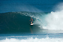 Phil MacDonald during the Billabong Pipeline Masters at Backdoor on the Northshore of Oahu in Hawaii.