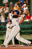 Third Baseman Jefry Marte of the St. Lucie Mets at bat during the game against the Daytona Beach Cubs at Jackie Robinson Ballpark on May 25, 2011 in Daytona Beach, Florida. Photo by Scott Jontes / Four Seam Images