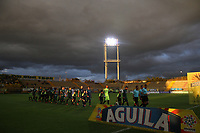 BOGOTA - COLOMBIA - 21 - 08 - 2017: Equidad y Atlético Huila en partido por la fecha 9 de la Liga Aguila II 2017 jugado en el estadio Metropolitano de Techo de la ciudad de Bogota. / Equidad and Atletico Huila in match for the date 9 of the Liga Aguila II 2017 played at the Metropolitano de Techo  Stadium in Bogota city<br /> , Photo: VizzorImage  /Felipe Caicedo / Staff.