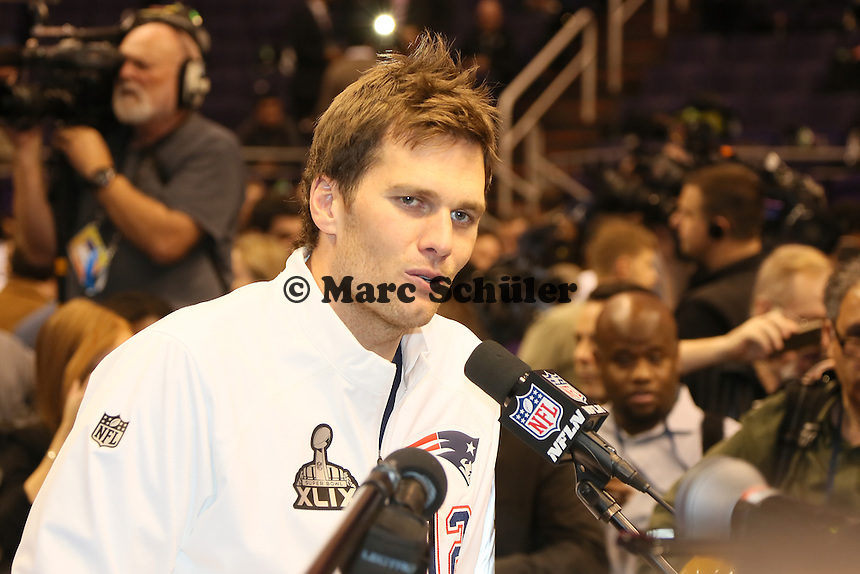 QB Tom Brady (Patriots)  - Super Bowl XLIX Media Day, US Airways Center, Phoenix