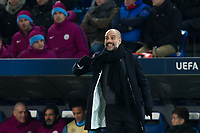 Manchester City manager Josep Guardiola <br /> <br /> Photographer Craig Mercer/CameraSport<br /> <br /> UEFA Champions League Round of 16 First Leg - Basel v Manchester City - Tuesday 13th February 2018 - St Jakob-Park - Basel<br />  <br /> World Copyright &copy; 2018 CameraSport. All rights reserved. 43 Linden Ave. Countesthorpe. Leicester. England. LE8 5PG - Tel: +44 (0) 116 277 4147 - admin@camerasport.com - www.camerasport.com