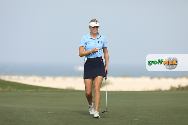 Julia Engstrom (SWE) during the first round of the Fatima Bint Mubarak Ladies Open played at Saadiyat Beach Golf Club, Abu Dhabi, UAE. 10/01/2019<br /> Picture: Golffile | Phil Inglis<br /> <br /> All photo usage must carry mandatory copyright credit (&copy; Golffile | Phil Inglis)