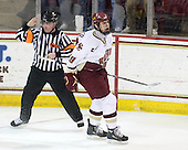 Jeff Bunyon, Chris Kreider (BC - 19) - The Boston College Eagles defeated the University of Massachusetts-Amherst Minutemen 6-5 on Friday, March 12, 2010, in the opening game of their Hockey East Quarterfinal matchup at Conte Forum in Chestnut Hill, Massachusetts.