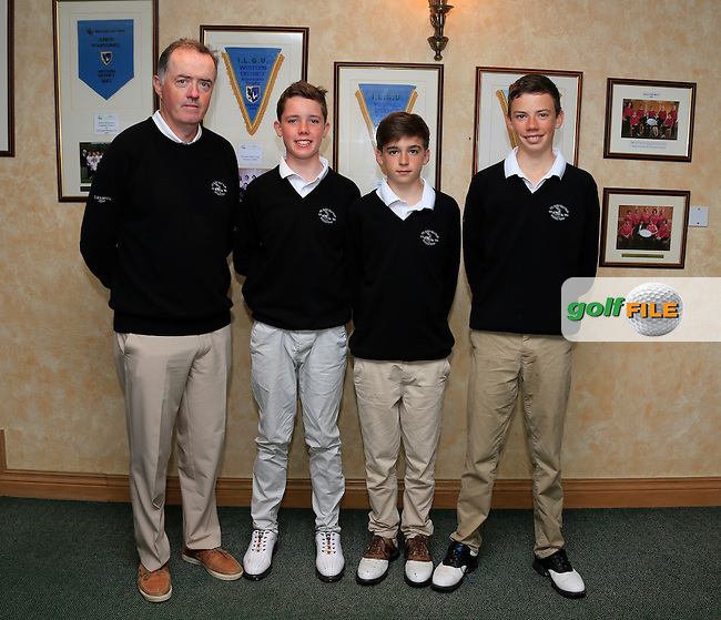 Co Sligo Golf club members Joseph Keys, Sean Casey and Niall McDermott pictured before the the Golfstyle Kenny Cup Strokeplay Final, Gort Golf Club, Gorth, Co Galway.  09/08/2015.<br /> Picture: Golffile | Fran Caffrey<br /> <br /> <br /> All photo usage must carry mandatory copyright credit (&copy; Golffile | Fran Caffrey)