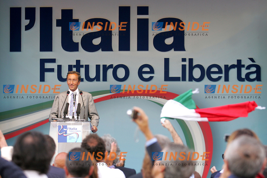 GIANFRANCO FINI<br /> Mirabello, Ferrara 05/09/2010 Festa di Futuro e Liberta'.<br /> Photo Zucchi Insidefoto