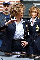 www.acepixs.com<br /> <br /> April 26 2017, New York City<br /> <br /> Actress Jennifer Lopez was on the set of the TV show 'Shades of Blue' on April 26 2017 in New York City<br /> <br /> By Line: Zelig Shaul/ACE Pictures<br /> <br /> <br /> ACE Pictures Inc<br /> Tel: 6467670430<br /> Email: info@acepixs.com<br /> www.acepixs.com
