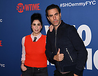 """15 May 2019 - Los Angeles, California - Sarah Silverman, Sacha Baron Cohen. Showtime Emmy® For Your Consideration """"Who Is America?"""" held on the Paramount Studios lot at the Paramount Theatre. Photo Credit: Billy Bennight/AdMedia"""