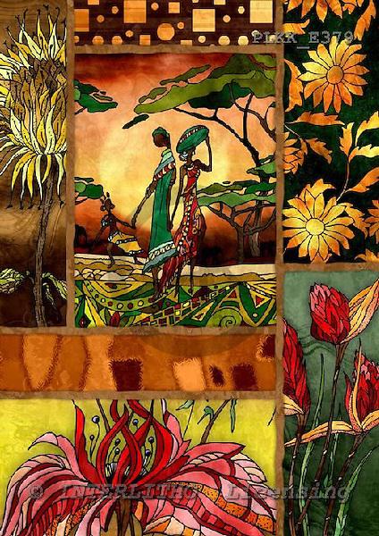 Kris, ETHNIC, paintings,+indigenous, women++++,PLKKE379,#ethnic# étnico, illustrations, pinturas