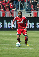30 March 2013: Toronto FC defender Jeremy Hall #25 in action during an MLS game between the LA Galaxy and Toronto FC at BMO Field in Toronto, Ontario Canada..The game ended in a 2-2 draw..