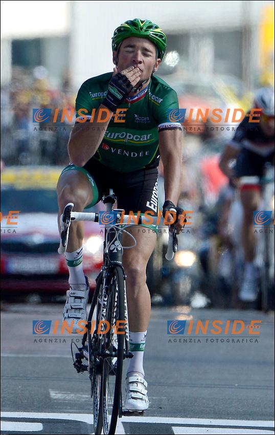 Thomas Voeckler (EUROPCAR team / France) .11/7/2012 Tour de France .Macon / Bellegarde sur Valserine 10a tappa.Foto Insideofoto / Kalut - De Voecht / Photo News / Panoramic.ITALY ONLY