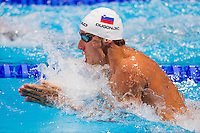 Damir Dugonjic SLO<br /> Men's 100m 100m breaststroke preliminaries<br /> Swimming<br /> 15th FINA World Aquatics Championships<br /> Barcelona 19 July - 4 August 2013<br /> Palau Sant Jordi, Barcelona (Spain) 28/07/2013 <br /> © Giorgio Perottino / Deepbluemedia.eu / Insidefoto