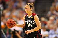 6 April 2008: Stanford Cardinal JJ Hones during Stanford's 82-73 win against the Connecticut Huskies in the 2008 NCAA Division I Women's Basketball Final Four semifinal game at the St. Pete Times Forum Arena in Tampa Bay, FL.