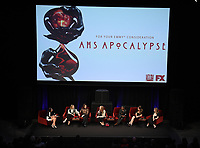 "LOS ANGELES- MAY 18: Moderator Danielle Turchiano, Sarah Paulson, Cody Fern, Frances Conroy, Adina Porter, Billie Lourd, and Leslie Grossman attend 20th Century Fox Television and FX's ""American Horror Story: Apocalypse"" FYC red carpet event at Neuehouse on May 18, 2019 in Los Angeles, California. (Photo by Frank Micelotta/FX/PictureGroup)"