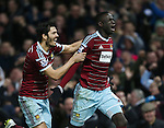 West Ham's Cheikhou Kouyate celebrates scoring his sides opening goal<br /> <br /> Barclays Premier League- West Ham United vs Manchester United  - Upton Park - England - 8th February 2015 - Picture David Klein/Sportimage