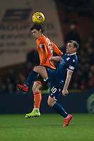 27th December 2019; Dens Park, Dundee, Scotland; Scottish Championship Football, Dundee Football Club versus Dundee United; Paul McGowan of Dundee challenges for the ball with Ian Harkes of Dundee United  - Editorial Use