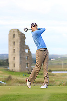 Gavin Smyth (Clonmel) on the 13th tee during Round 2 of The South of Ireland in Lahinch Golf Club on Sunday 27th July 2014.<br /> Picture:  Thos Caffrey / www.golffile.ie