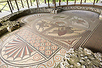 Roman mosaic at Littlecote House Hotel, Hungerford, Berkshire, England, UK