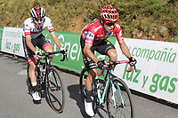 ESPAÑA, 06-09-2019: Primoz Roglic (SLO - YUMBO VISMA) con el maillot rojo líder durante la etapa 13, hoy, 06 de septiembre de 2019, que se corrió entre Bilbao y Los Machucos. Monumento Vaca Pasiega con una distancia de 166,4 km como parte de La Vuelta a España 2019 que se disputa entre el 24/08 y el 15/09/2019 en territorio español. / Primoz Roglic (SLO - YUMBO VISMA) with the red leader jersey during the stage 13 today, September 06, 2019, from Bilbao to Los Machucos. Monumento Vaca Pasiega with a distance of 166,4 km as part of Tour of Spain 2019 which takes place between 08/24 and 09/15/2019 in Spain.  Photo: VizzorImage / Luis Angel Gomez / ASO.  Photo: VizzorImage / Luis Angel Gomez / ASO.  Photo: VizzorImage / Luis Angel Gomez / ASO<br /> VizzorImage PROVIDES THE ACCESS TO THIS PHOTOGRAPH ONLY AS A PRESS AND EDITORIAL SERVICE AND NOT IS THE OWNER OF COPYRIGHT; ANOTHER USE HAVE ADDITIONAL PERMITS AND IS  REPONSABILITY OF THE END USER