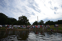 NWA MEDIA SAMANTHA BAKER @NWASAMANTHA<br /> Worshipers watch as fellow believers of Christ are baptized Sunday, July 27, 2014, at Lake Avalon during Bella Vista Christian Church's baptizing event.