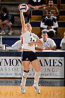 20 November 2008:  FIU outside hitter Isadora Rangel (14) hits a kill shot early in the FIU 3-1 victory over South Alabama in the first round of the Sun Belt Conference Championship tournament at FIU Stadium in Miami, Florida.