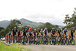 The peloton take it easy during Stage 18 of the 2017 La Vuelta, running 169km from Suances to Santo Toribio de Li&eacute;bana, Spain. 7th September 2017.<br /> Picture: Unipublic/&copy;photogomezsport | Cyclefile<br /> <br /> <br /> All photos usage must carry mandatory copyright credit (&copy; Cyclefile | Unipublic/&copy;photogomezsport)