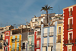 Detail of the old quarter of Villajoyosa City. Alicante province, Valencian Community, Spain, Europe.