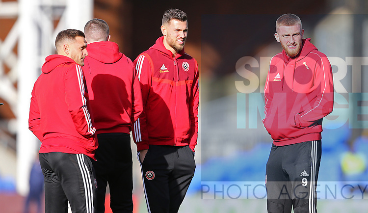 Sheffield United's John Egan Sheffield United's Oliver McBurnie during the Premier League match at Selhurst Park, London. Picture date: 1st February 2020. Picture credit should read: Paul Terry/Sportimage