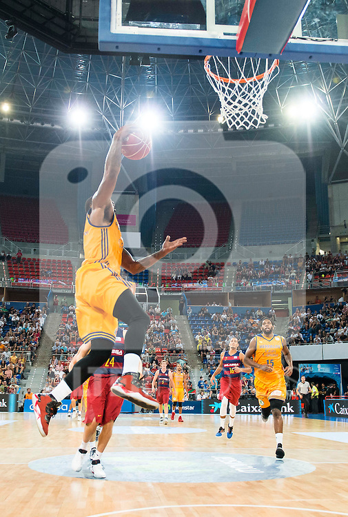 Herbalife Gran Canaria's player Bo McCalebbmduring the final of Supercopa of Liga Endesa Madrid. September 24, Spain. 2016. (ALTERPHOTOS/BorjaB.Hojas)