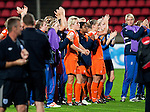 Team Holland is thanking their fans, SF, England-Holland, Women's EURO 2009 in Finland, 09062009, Tampere Ratina Stadium