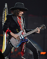 SUNRISE, FL - DECEMBER 09:  Joe Perry of Aerosmith performs at the BB&T Center on December 9, 2012 in Miami.  Credit: mpi04/MediaPunch Inc. /NortePhoto