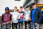 Ikponmwosa Ogunmwonyi, Emir Aliti, Sean Stack Pullen, Darragh Murphy and Aodhán McKenna, CBS, The Green students who received their Junior Certificate results on Wednesday morning last.