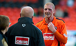 Dundee Utd v St Johnstone...25.09.10  .A bloodied Garry Kenneth.Picture by Graeme Hart..Copyright Perthshire Picture Agency.Tel: 01738 623350  Mobile: 07990 594431