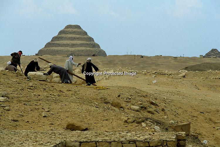 Sakkara; The Step Pyramid of Djoser; Egypt