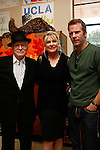 Hugh Hefner, Lois Lee and Thomas Jane at a ceremony where Hugh Hefner receives first founder's 'Hero of the Hearts' award from Children of the Night on November 18, 2010 in Van Nuys, Los Angeles, California.