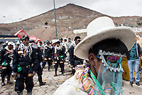 A picture dated Saturday January 26, 2013 shows a scene at the Miners Carnival in the Andes city of Potosi in Bolivia. Already in 1663 the Spanish chronicler Marquez Jerez de los Caballeros described the colorful  miners carnival in Potosi. Four centuries later, the tradition of the legendary Cerro Rico miners is  still alive ..