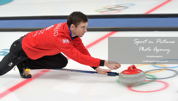 Glen Muirhead (GBR). Mens Curling training. Pyeongchang2018 winter Olympics Gangneung curling centre. Gangneung. Republic of Korea. 12/02/2018. ~ MANDATORY CREDIT Garry Bowden/SIPPA - NO UNAUTHORISED USE - +44 7837 394578