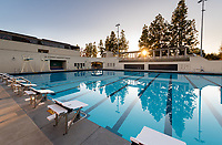 The new pool of the De Mandel Aquatic Center at Occidental College, Dec. 18, 2019.<br /> (Photo by Marc Campos, Occidental College Photographer)