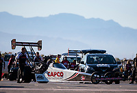 Nov 3, 2019; Las Vegas, NV, USA; NHRA top fuel driver Brittany Force during the Dodge Nationals at The Strip at Las Vegas Motor Speedway. Mandatory Credit: Mark J. Rebilas-USA TODAY Sports