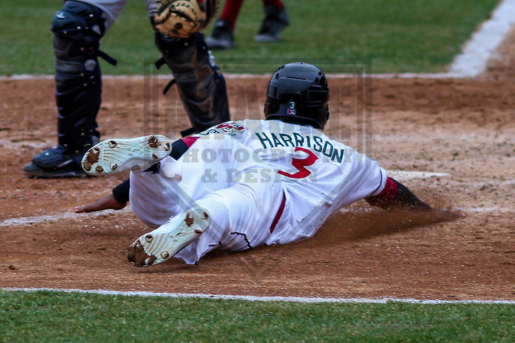 Wisconsin Timber Rattlers outfielder Monte Harrison (3) during a Midwest League game against the Burlington Bees on April 11th, 2017 at Fox Cities Stadium in Appleton, Wisconsin.  Wisconsin defeated Burlington 4-3. (Brad Krause/Krause Sports Photography)