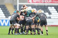 Northampton Saints Courtney Lawes crawls all over the maul. Liberty Stadium, Swansea, South Wales 12.01.14. Ospreys v Northampton Heineken Cup round 5 pool 1 - pIc credit Jeff Thomas photography