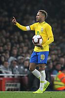 Neymar Jr of Brazil during Brazil vs Uruguay, International Friendly Match Football at the Emirates Stadium on 16th November 2018