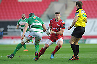 Scarlets' Scott Williams in action during todays match<br /> <br /> Photographer Ashley Crowden/CameraSport<br /> <br /> Guinness PRO12 Round 19 - Scarlets v Benetton Treviso - Saturday 8th April 2017 - Parc y Scarlets - Llanelli, Wales<br /> <br /> World Copyright &copy; 2017 CameraSport. All rights reserved. 43 Linden Ave. Countesthorpe. Leicester. England. LE8 5PG - Tel: +44 (0) 116 277 4147 - admin@camerasport.com - www.camerasport.com
