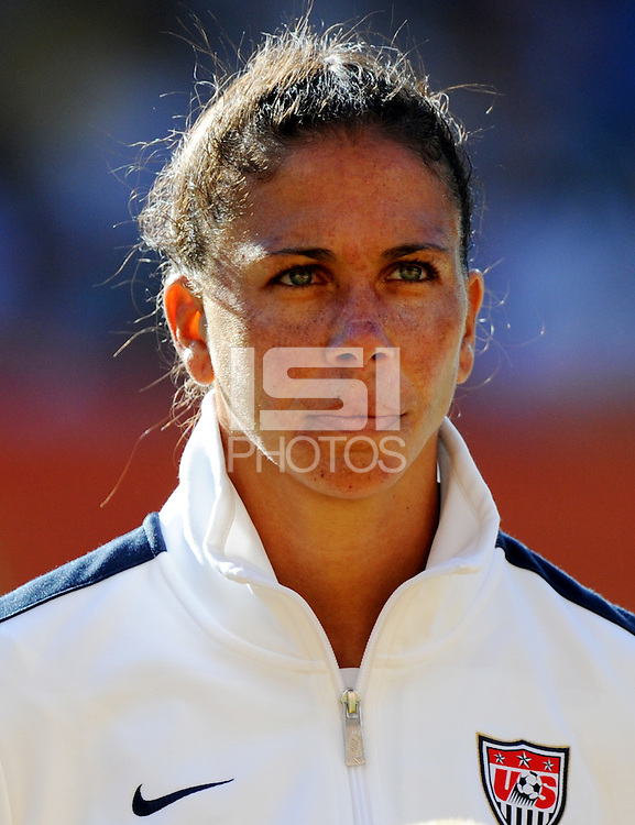 Shannon Boxx of team USA during the FIFA Women's World Cup at the FIFA Stadium in Dresden, Germany on June 28th, 2011.