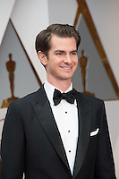 www.acepixs.com<br /> <br /> February 26 2017, Hollywood CA<br /> <br /> Andrew Garfield arriving at the 89th Annual Academy Awards at Hollywood &amp; Highland Center on February 26, 2017 in Hollywood, California.<br /> <br /> By Line: Z17/ACE Pictures<br /> <br /> <br /> ACE Pictures Inc<br /> Tel: 6467670430<br /> Email: info@acepixs.com<br /> www.acepixs.com