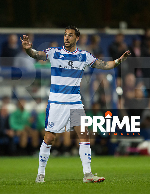QPR Geoff Cameron during the Sky Bet Championship match between Queens Park Rangers and Millwall at Loftus Road Stadium, London, England on 19 September 2018. Photo by Andrew Aleksiejczuk / PRiME Media Images.