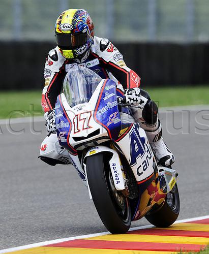 06 06 2010 Karel Abraham CZE FTR. Moto2 class, 600cc spec Honda eninges in prototype chassis. Gran Premio d'Italia TIM, Mugello circuit, Italy.