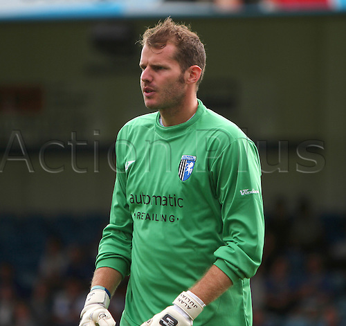 07/08/2010. Gillingham goalkeeper Alan Julian during the second half. Gillingham v Cheltenham Town. Division 2 match at the Priestfield Stadium, Gillingham, Kent. England.