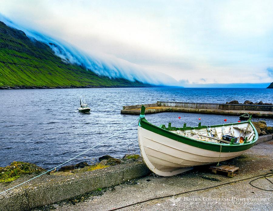 Faroe Islands. Elduvik is a small village on Eysturoy.